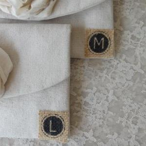 Personalized Initial Add On Burlap ..